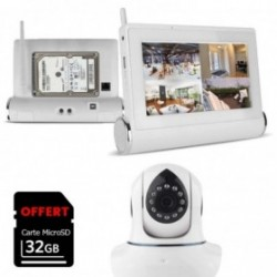 Systeme vidéosurveillance avec caméra wifi et tablette multimédia tactile (4084)