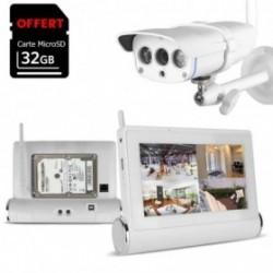 Kit de vidéosurveillance Wifi avec tablette tactile multimédia + caméra extérieure HD (4086)