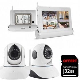 tablette tactile multimédia enregistreur vidéo avec disque dur + 2 caméras intérieures HD (4089)