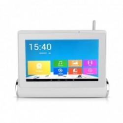Kit de vidéosurveillance Wifi avec tablette tactile multimédia + caméras intérieure et extérieure HD (2532)