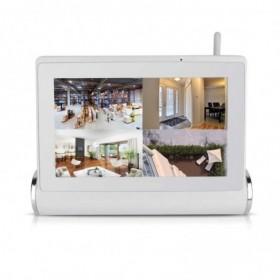 systeme videosurveillance 4 caméra sans fil wifi intérieure detection de mouvement application mobile (2571)