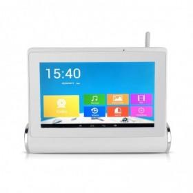 systeme de vidéosurveillance Wifi avec tablette tactile multimédia + 2 caméras intérieures HD + 2 caméras extérieures HD (2580)