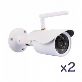 Pack de vidéosurveillance avec 2 caméras fixes extérieurs HD WiFi (2701)