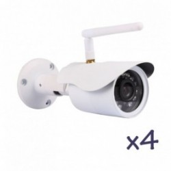 Pack de vidéosurveillance avec 4 caméras fixes extérieurs HD WiFi (2711)