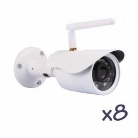 Pack de vidéosurveillance avec 8 caméras fixes extérieurs HD WiFi (2719)