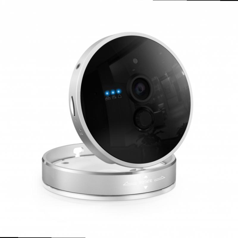 caméra sans fil ronde en alu design wifi