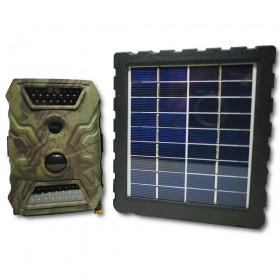Kit caméra camouflée avec panneau solaire d'alimentation