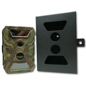 Caméra de chasse camouflée avec box de protection