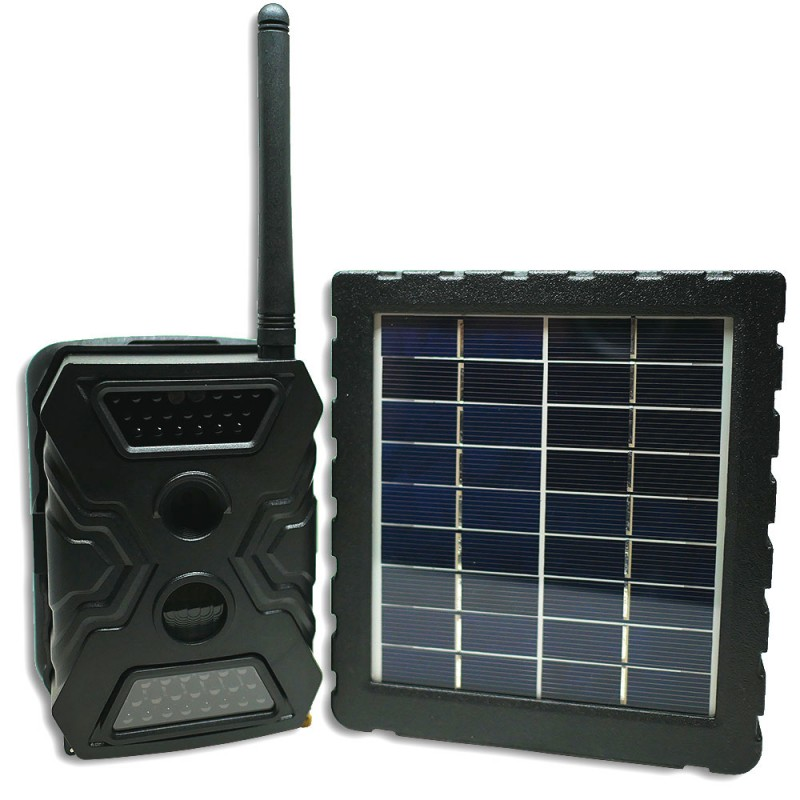 Caméra dissimulée avec panneau solaire d'alimentation