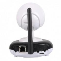 Caméra IP wifi intérieure motorisée HD 720p vue de dos et antenne d'émission
