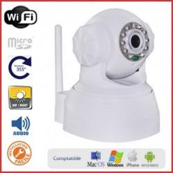 Caméra IP motorisée intérieure avec WIFI