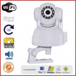 Caméra IP motorisée intérieure avec haut-parleur