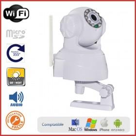 Caméra IP motorisée intérieure sur socle orientable