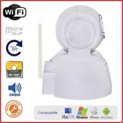 Caméra IP motorisée intérieure blanche design