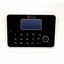 centrale d'alarme tactile noire design gsm et rtc