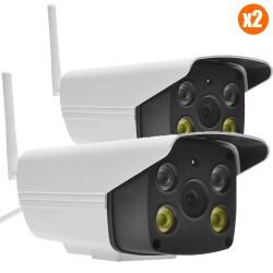 Pack vidéo surveillance 2 caméras full hd extérieur wifi Vstarcam pour maison
