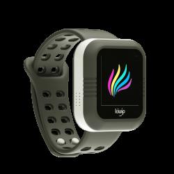Montre KiwipWatch noire, montre connectée pour enfant