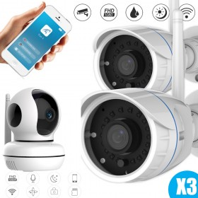 Pack video surveillance 3 caméras Vstarcam