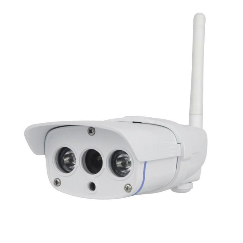 Caméra IP extérieure alu blanc, WIFI, HD 720P, détection de mouvement et application mobile et tablette