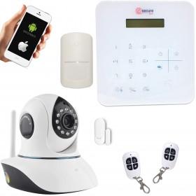 Kit alarme domestique sans fil avec caméra sans fil