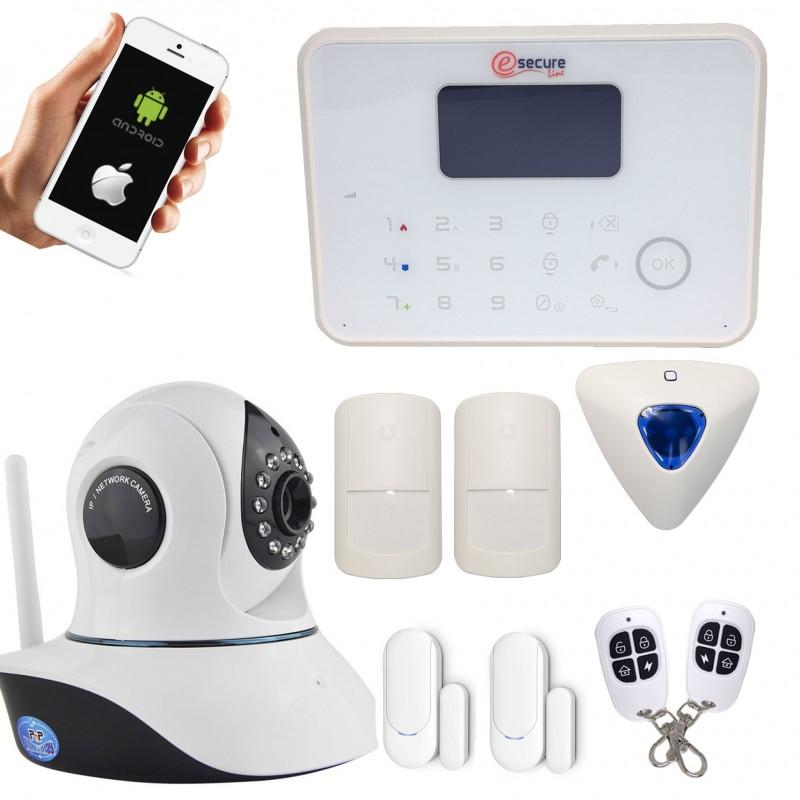 alarme maison sans fil gsm et rtc cam ra ip wifi