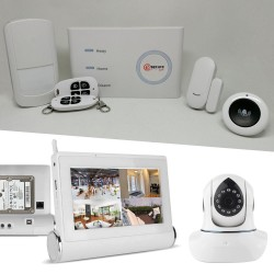 kit complet de sécurité avec alarme pour maison et videosurveillance