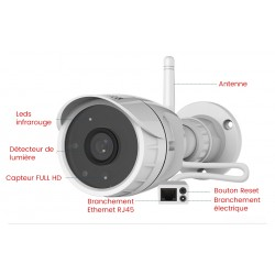 description cameras exterieures FULL HD 1080P
