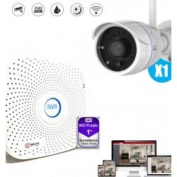 ki de videosurveillance avec camera exterieure et enregistreur video