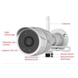 description camera exterieure wifi