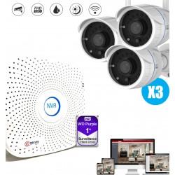kit de videosurveillance avec camera exterieure et enregistreur video