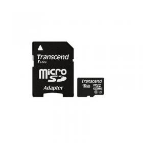 Carte microSDHC Classe 10 avec adaptateur SD Transcend 16 GB PREMIUM 200x