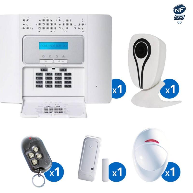Pack alarme radio PowerMaster30 Visonic - haut de gamme NFA2P - KIT 1