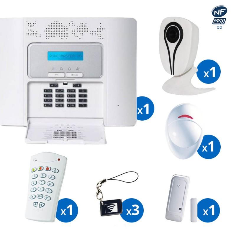 Pack alarme radio PowerMaster30 Visonic - haut de gamme NFA&2P - KIT 2