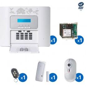 Pack alarme radio PowerMaster30 Visonic avec transmetteur GSM haut de gamme NFA2P - KIT 3