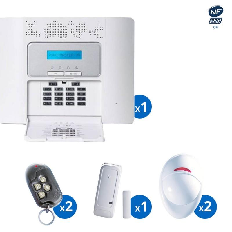 Pack alarme radio PowerMaster30 Visonic - haut de gamme NFA&2P - KIT 4