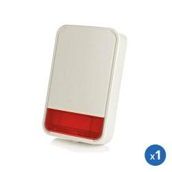 Pack alarme radio powermaster 30 visonic avec sirene exterieure et détecteurs pour appartement ou commerce