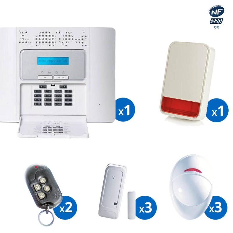 Pack alarme radio PowerMaster30 Visonic - haut de gamme NFA2P - KIT 6