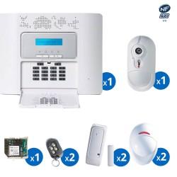 Pack alarme radio PowerMaster30 Visonic avec transmetteur GSM haut de gamme NFA&2P - KIT 9