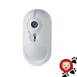 Détecteur de mouvement interieur avec caméra intégrée et immunité animaux pour powermaster Visonic