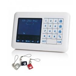 Clavier LCD déporté avec lecteur de badge et sirène intégrée pour gamme PowerMaster Visonic