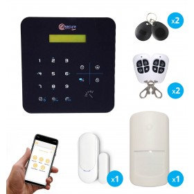 pack alarme sans fil radio gsm avec application mobile pour maison et appartement