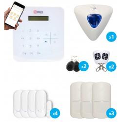 pack alarme sans fil radio gsm avec application mobile pour maison et appartement
