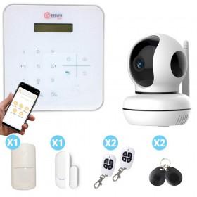 Pack alarme maison avec caméra design