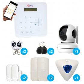pack alarme sans fil avec camera intérieure full hd connectée