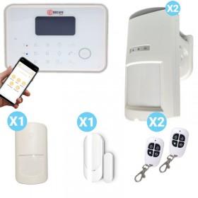 Kit alarme et détecteurs de présence pour l'extérieur