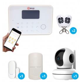 pack alarme gsm et rtc avec videosurveillance interieure full hd