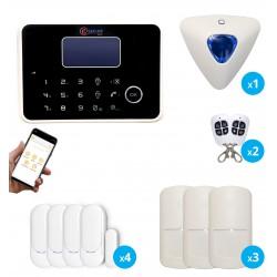 kit alarme anti-intrusion gsm et rtc noire