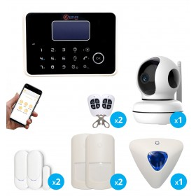 pack alarme avec camera interieure connectee wifi full hd
