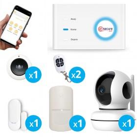 pack alarme Wifi + GSM avec caméra wifi design - X10