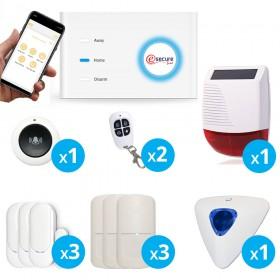 Système d'alarme Wifi + GSM pour maison sans fil - X10 EsecureLine